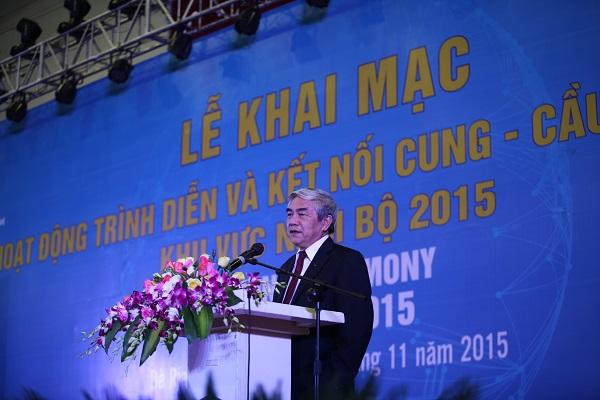 Bộ trường Bộ KH&CN Nguyễn Quân phát biểu khai mạc